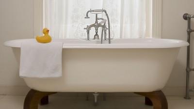 Golvblandare läckert och modernt i badrummet
