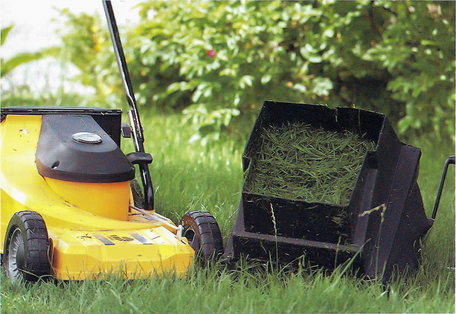 Gräsklippare med uppsamlare