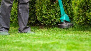 Putsa, trimma och röja en gräsmatta