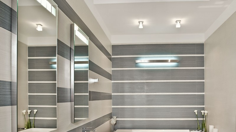 Innertaket speglar känslan i badrummet