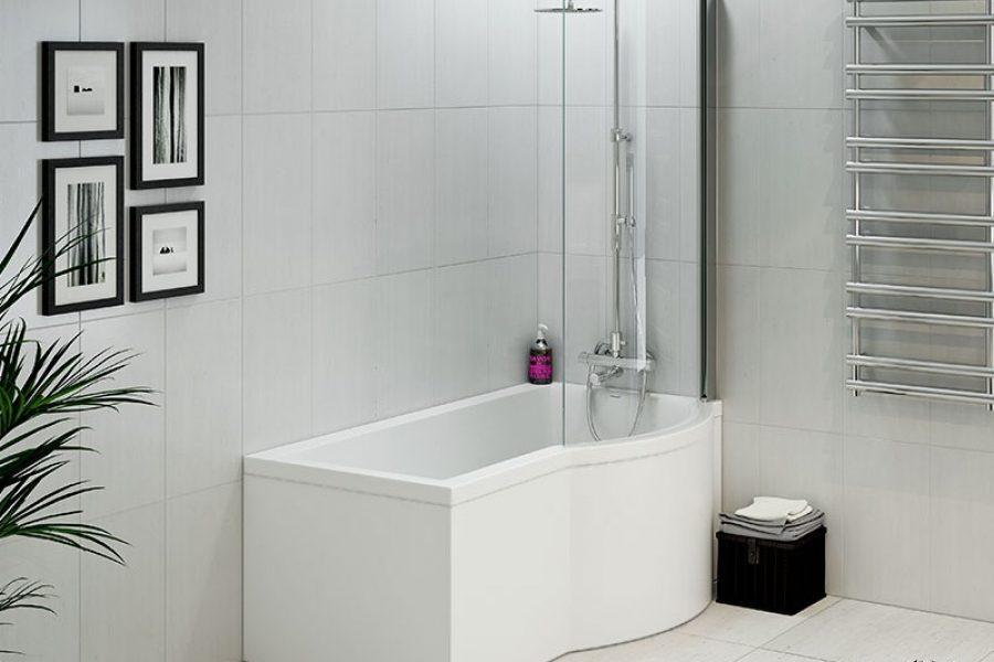duschkabin med badkar