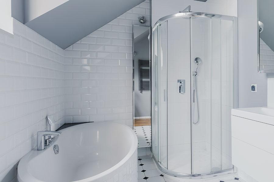 Duschkabin i badrum