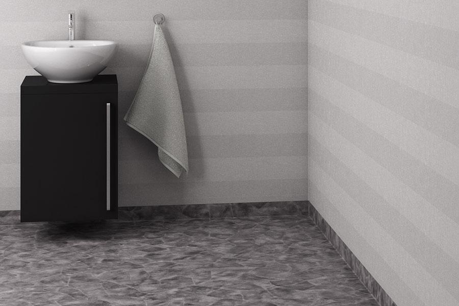 Montering med våtrumsmatta på badrumsväggen blir oftast lite billigare