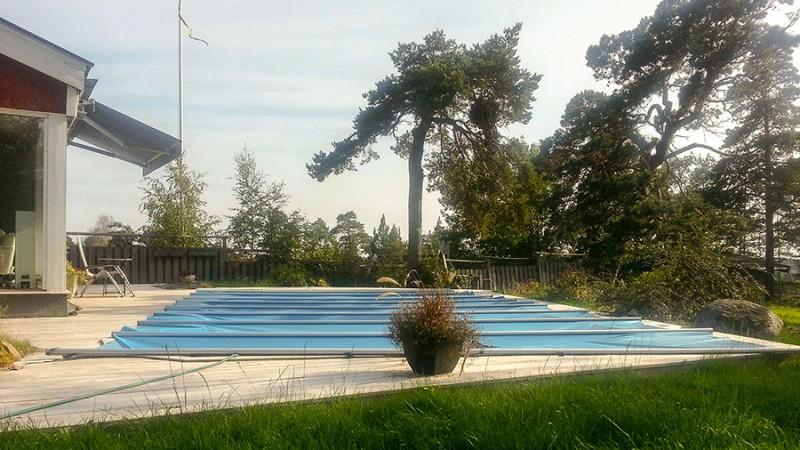 Poolöverdrag – Bra vintertäckning räddar poolen