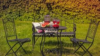 Trädgårdsmöbler av metall för hållbarhet
