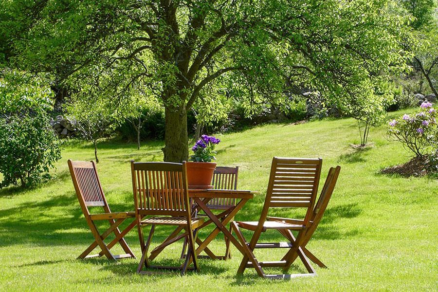 Trädgårdsmöbler av teak