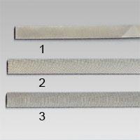 Filar avsedda för mjukare metallarbeten