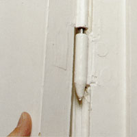 Provhäng dörren