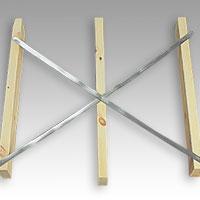 ragband är särskilt lämpliga vid diagonalstabilisering av stommar
