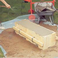 Vattna betongen