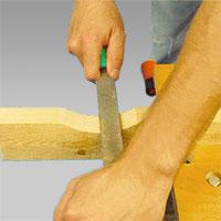 Den halvrunda filen är vanligast vid träarbeten