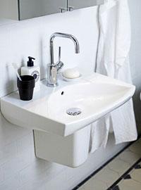 Litet handfat badrum