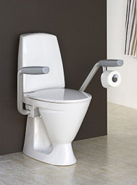 Toalettstol som är handikappanpassad