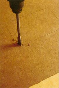 Runt, kvadratiskt eller rektangulärt hål