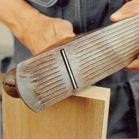 Ha vid spånöppning när du ska hyvla mjukt trä