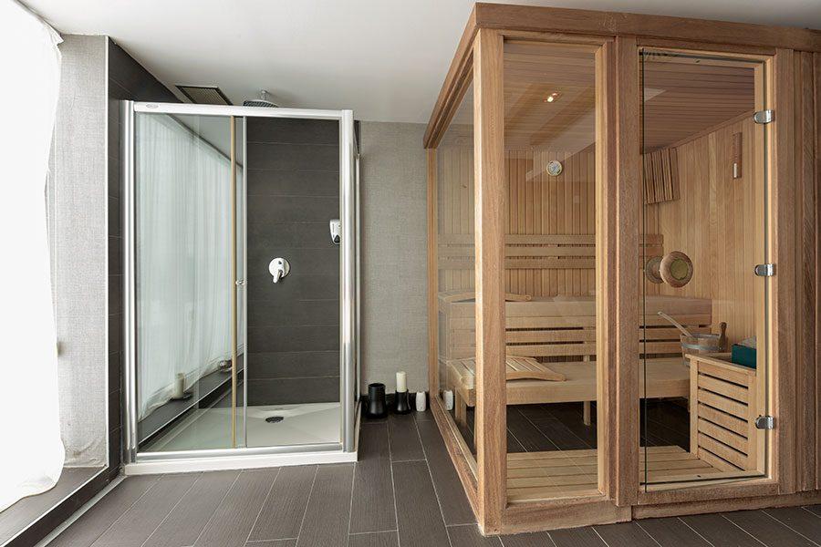 Inspiration med basturum och duschkabin