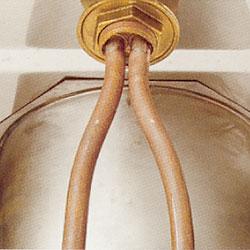 Köksblandarens kopparrör