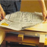 Lägg över ett sugande papper