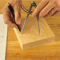 markera varje ny punkt med en spetsig blyertspenna