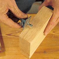 Dra en relieflinje runt ämnet, som visar maximalt skärdjup