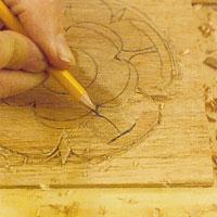 rita ut stjälkarna med en vass penna