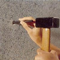 slagankare kan användas i mycket hårda material.