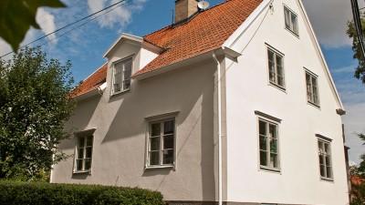 Stänkputs en vanlig typ av fasadputs