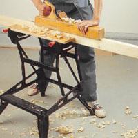 Är arbetsstycket stort kan du behöva ta både ett och två steg framåt