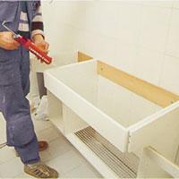 Täta anläggningsytor med vattenfast silikon
