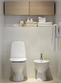 toalettstol och bidé i samma design