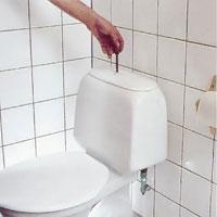 Spola därefter en gång, så att du tömmer cisternen på vatten.
