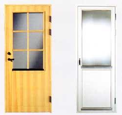 Fönsterdörrar tillverkade i trä och aluminium