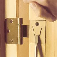 Ta bort dörren från gångjärnen