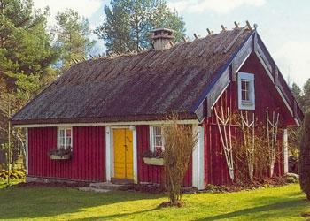 Halmtak på äldre hus