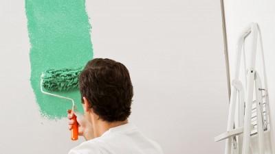 Arbetsföljd vid målning av rum