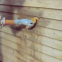 Tvätta fasaden med målartvätt