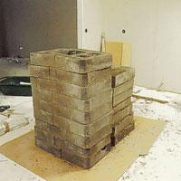 Byggsatsen för kakelugnen