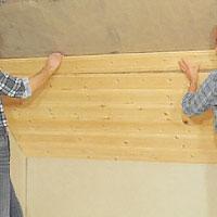 Dölj isoleringen med byggskivor eller panel