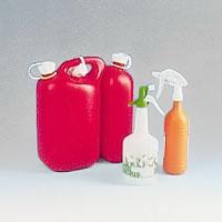 Dunkar och plastduschsprutor
