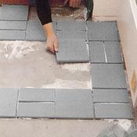 Fortsätt läggningen tills golvet är färdigt