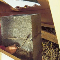 När takurtaget är gjort kan du fortsätta murningen av skorstensblocken