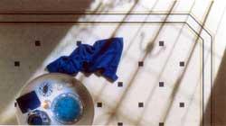 Golvplattor med olika mönster