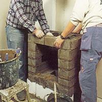 indragningen ovanför hålet för varmluftskassetten.