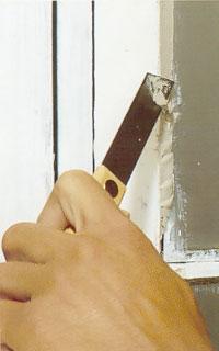 Lägg kitt på kittkniven