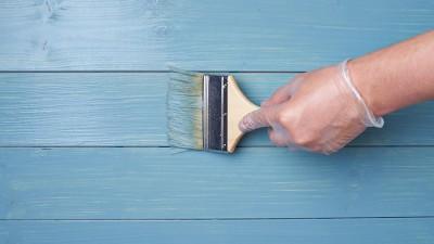 Måla ett trägolv