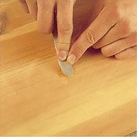 Välj plastiskt trä som passar träytan