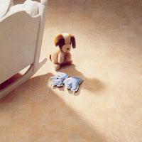 plastmatta till småbarnens lek och sovrum