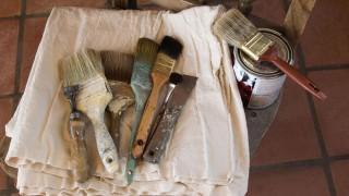 Rädda gamla dekorativa målningar