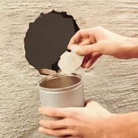 Plocka bort allt väggmaterial från urtaget