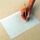 Rita mönster på ett papper